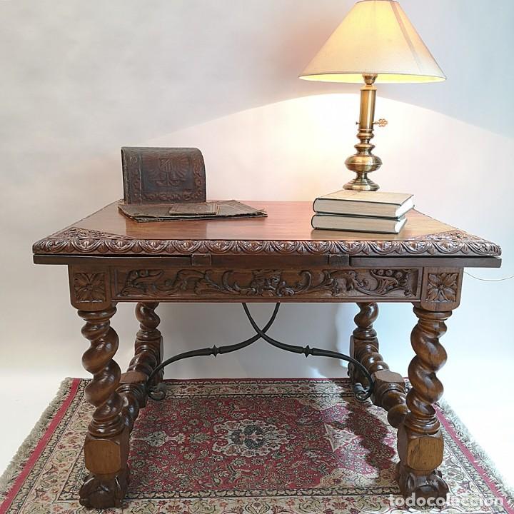 MESA ANTIGUA CAOBA (Antigüedades - Muebles Antiguos - Mesas Antiguas)