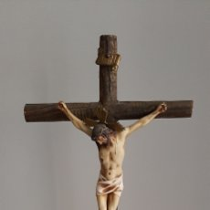 Antigüedades: ANTIGUO CRISTO CRUCIFICADO DE SOBREMESA.. Lote 257703040