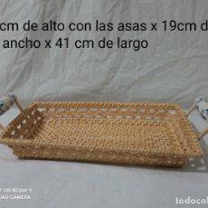 Antigüedades: BONITA BANDEJA DE MIMBRE. Lote 257715400