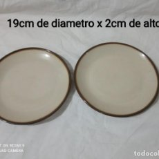 Antigüedades: LOTE DE 2 PLATOS DE POSTRE. Lote 257716195