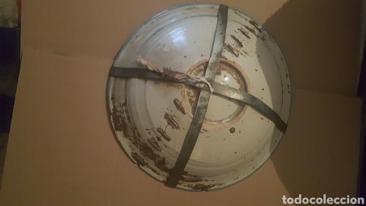 Antigüedades: PLATO DE TALAVERA S .XVIII SERIE PABELLONES EN AZUL - Foto 3 - 257726880