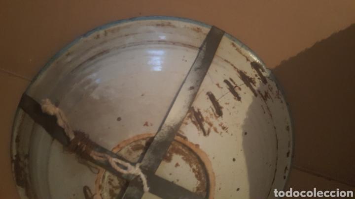 Antigüedades: PLATO DE TALAVERA S .XVIII SERIE PABELLONES EN AZUL - Foto 4 - 257726880