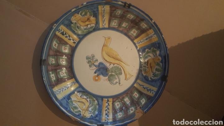 PLATO DE MANISES S .XVIII SERIE PAJARO (Antigüedades - Porcelanas y Cerámicas - Talavera)