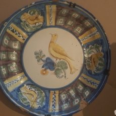Antigüedades: PLATO DE MANISES S .XVIII SERIE PAJARO. Lote 257727430