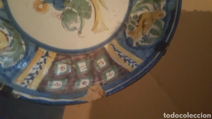 Antigüedades: PLATO DE MANISES S .XVIII SERIE PAJARO - Foto 3 - 257727430