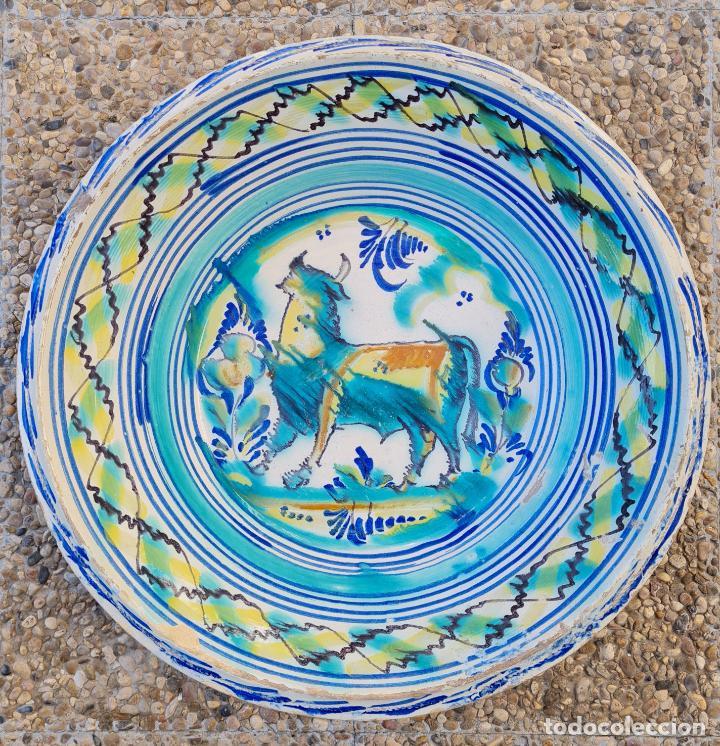 DE COLECCION,MAGNIFICO LEBRILLO EN CERAMICA DE TRIANA,(SEVILLA),S. XIX (Antigüedades - Porcelanas y Cerámicas - Triana)