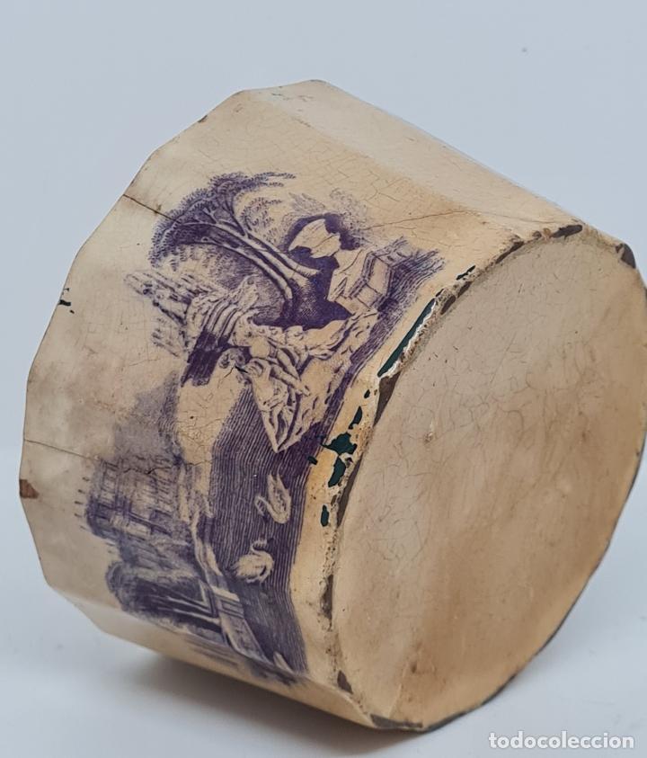 Antigüedades: MUY BONITA PIEZA EN MALVA DE LA FABRICA DE LA AMISTAD,CARTAGENA,(MURCIA),S. XIX - Foto 2 - 257736575