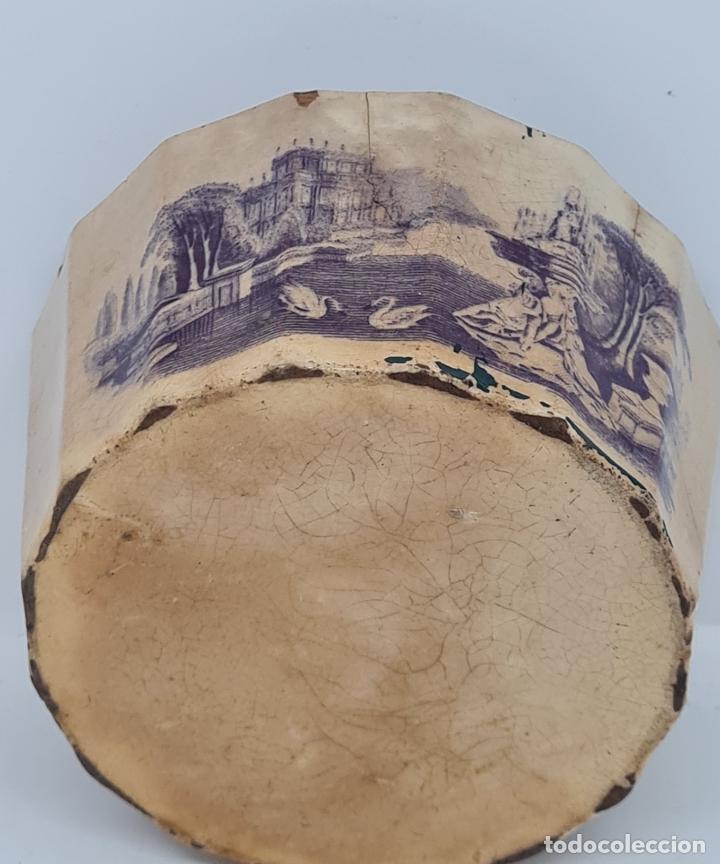 Antigüedades: MUY BONITA PIEZA EN MALVA DE LA FABRICA DE LA AMISTAD,CARTAGENA,(MURCIA),S. XIX - Foto 3 - 257736575