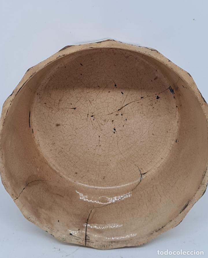 Antigüedades: MUY BONITA PIEZA EN MALVA DE LA FABRICA DE LA AMISTAD,CARTAGENA,(MURCIA),S. XIX - Foto 4 - 257736575