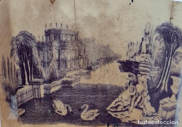 Antigüedades: MUY BONITA PIEZA EN MALVA DE LA FABRICA DE LA AMISTAD,CARTAGENA,(MURCIA),S. XIX - Foto 5 - 257736575