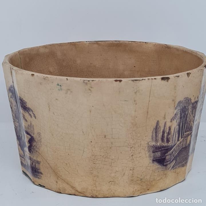 Antigüedades: MUY BONITA PIEZA EN MALVA DE LA FABRICA DE LA AMISTAD,CARTAGENA,(MURCIA),S. XIX - Foto 7 - 257736575