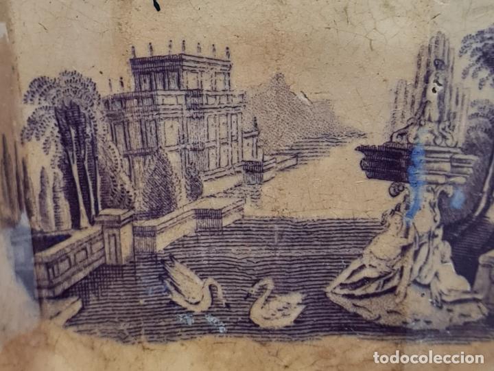 Antigüedades: MUY BONITA PIEZA EN MALVA DE LA FABRICA DE LA AMISTAD,CARTAGENA,(MURCIA),S. XIX - Foto 8 - 257736575