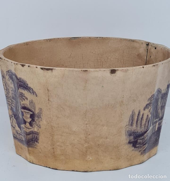 Antigüedades: MUY BONITA PIEZA EN MALVA DE LA FABRICA DE LA AMISTAD,CARTAGENA,(MURCIA),S. XIX - Foto 9 - 257736575