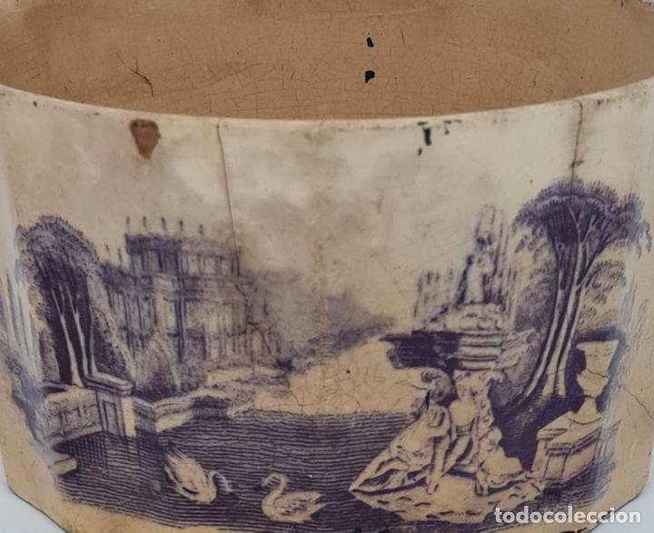 Antigüedades: MUY BONITA PIEZA EN MALVA DE LA FABRICA DE LA AMISTAD,CARTAGENA,(MURCIA),S. XIX - Foto 10 - 257736575