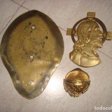 Antigüedades: ANTIGUA BENDITERA MODERNISTA EN BRONCE DORADO .. Lote 257793125