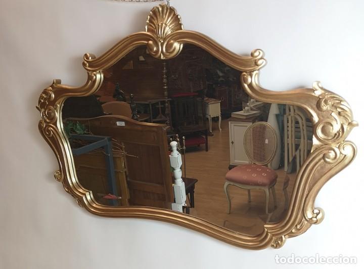 Antigüedades: Espejo con Marco Dorado - Foto 2 - 257813965