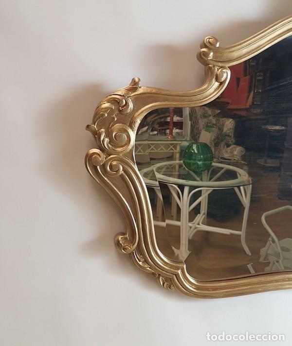 Antigüedades: Espejo con Marco Dorado - Foto 4 - 257813965
