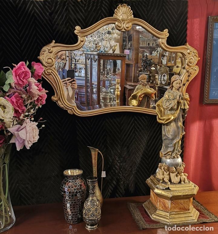 Antigüedades: Espejo con Marco Dorado - Foto 6 - 257813965