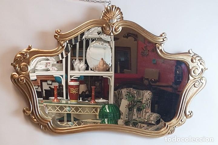 Antigüedades: Espejo con Marco Dorado - Foto 7 - 257813965
