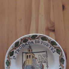 Antigüedades: PLATO CERAMICA TROBADA POETES ATENEU SANT CUGAT DEL VALLÈS. Lote 257847885