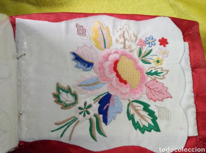 Antigüedades: Álbum muestrario bordados vainicas hecho a mano - Foto 4 - 257927950