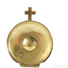 Antigüedades: HOSTIARIO DE VIAJE EN METAL PPS S XX. Lote 212501620