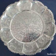 Antigüedades: BANDEJA DE PLATA CON PATAS. Lote 258093475