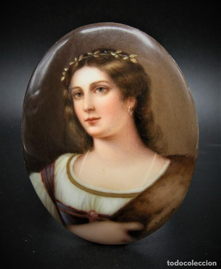 BONITA PLACA DE PORCELANA SIGLO XIX (Antigüedades - Porcelana y Cerámica - Alemana - Meissen)