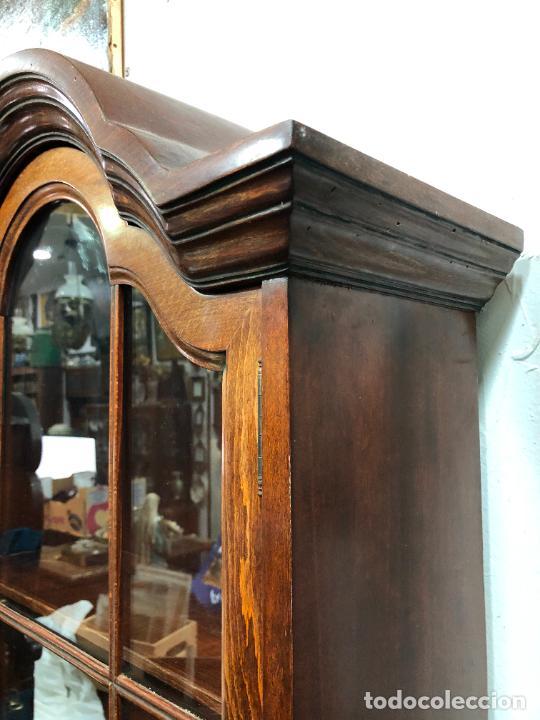 Antigüedades: PRECIOSO MUEBLE VITRINA BURO DE MEDIADOS DEL SIGLO XX - MEDIDA TOTAL 193X42X60 CM - Foto 3 - 258143990