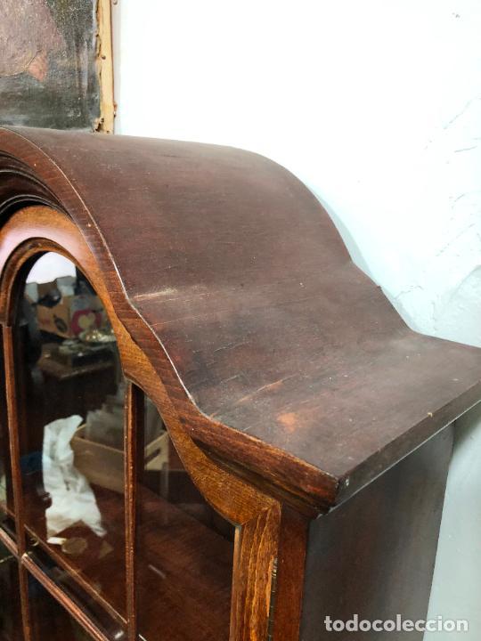 Antigüedades: PRECIOSO MUEBLE VITRINA BURO DE MEDIADOS DEL SIGLO XX - MEDIDA TOTAL 193X42X60 CM - Foto 4 - 258143990