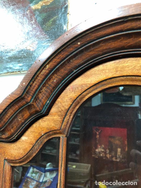 Antigüedades: PRECIOSO MUEBLE VITRINA BURO DE MEDIADOS DEL SIGLO XX - MEDIDA TOTAL 193X42X60 CM - Foto 6 - 258143990