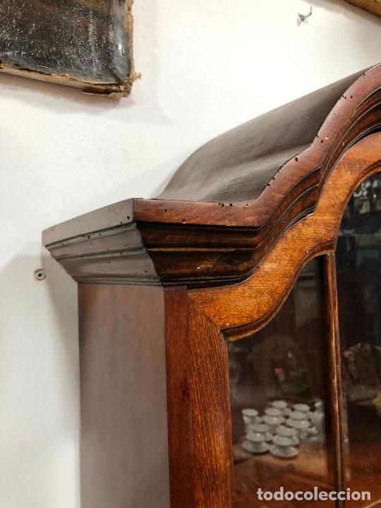 Antigüedades: PRECIOSO MUEBLE VITRINA BURO DE MEDIADOS DEL SIGLO XX - MEDIDA TOTAL 193X42X60 CM - Foto 23 - 258143990