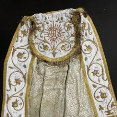 Antigüedades: CAPA PLUVIAL BORDADA EN ORO. Lote 258168925