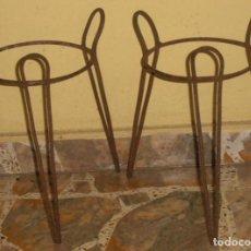 Antigüedades: 2 MACETEROS, 2 JARDINERAS DE HIERRO. Lote 258192350