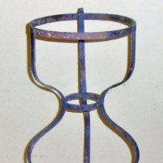 Antigüedades: MACETERO ANTIGUO DE HIERRO, JARDINERA DE HIERRO, PARA TRES MACETAS. Lote 258202610