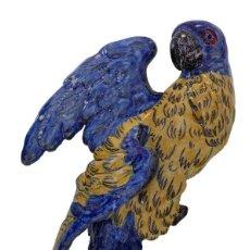 Antigüedades: EMILE GALLE PERROQUET ART NOUVEAU PARROT- NANCY CIRCA 1883 JARDINERA MODERNISTA EN FORMA DE LORO. Lote 258222895
