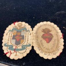 Antigüedades: LOTE DE 2 ESCAPULARIOS ANTIGUOS. Lote 258400080