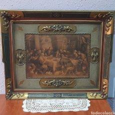Antigüedades: CUADRO LA ÚLTIMA CENA DE JESÚS, 66 X 55 CM .VER FOTOS.. Lote 258514195