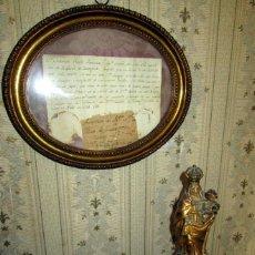 Antigüedades: TALLA PLICROMADA DE LA V.DEL PILAR CON SU AUTENTICA -SIGLO XVIII. Lote 258519520