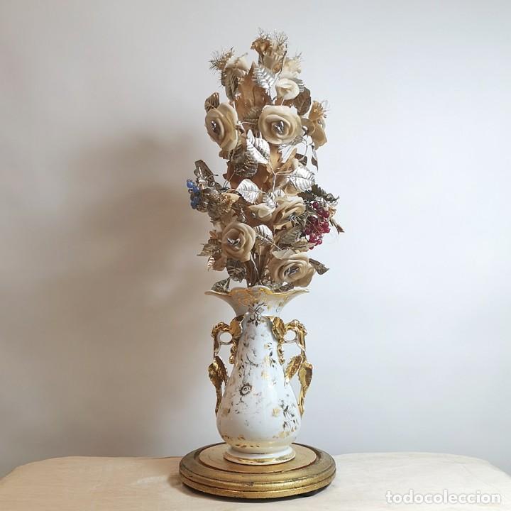 Antigüedades: Florero Isabelino Antiguo con Fanal - Foto 2 - 258749130