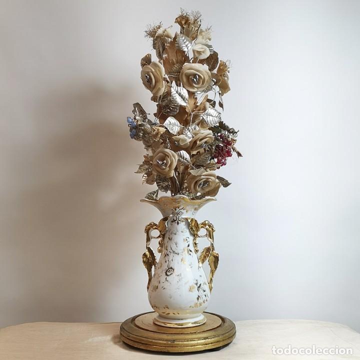 Antigüedades: Florero Isabelino Antiguo con Fanal - Foto 3 - 258749130