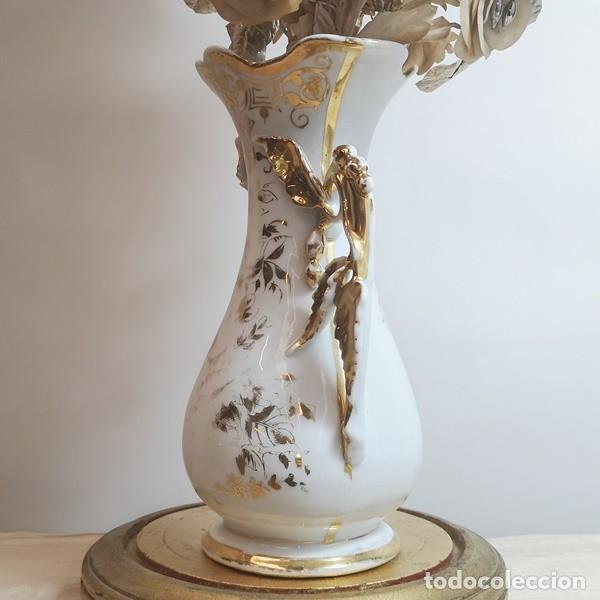 Antigüedades: Florero Isabelino Antiguo con Fanal - Foto 5 - 258749130