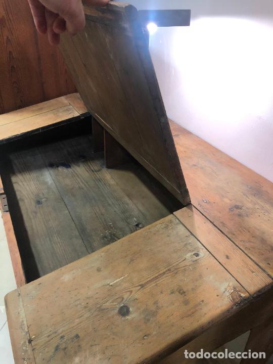 Antigüedades: ANTIGUO MESA BURO ESCRITORIO DE BODEGA EN PINO - MEDIDA 112X85X65 - Foto 11 - 258780285