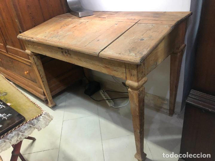 ANTIGUO MESA BURO ESCRITORIO DE BODEGA EN PINO - MEDIDA 112X85X65 (Antigüedades - Muebles Antiguos - Escritorios Antiguos)