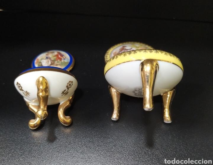 Antigüedades: Lote de dos pastilleros de porcelana Limoges y Calaryce - Foto 6 - 258790280