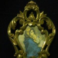 Antigüedades: ANTIGUA CORNUCOPIA SIGLO XIX,TALLA DE MADERA ,IMAGEN RELIGIOSA INTERIOR. Lote 258792925