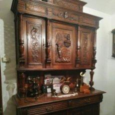 Antigüedades: PRECIOSO Y BUEN MUEBLE ANTIGUO DE COMEDOR DE ROBLE FRANCÉS. Lote 258805155