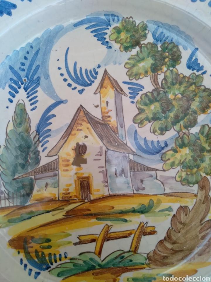 Antigüedades: Plato de colgar cerámica esmaltada - Foto 6 - 258931430