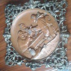 Antigüedades: MARCO DE CALAMINA SIGLO XIX. Lote 258993005