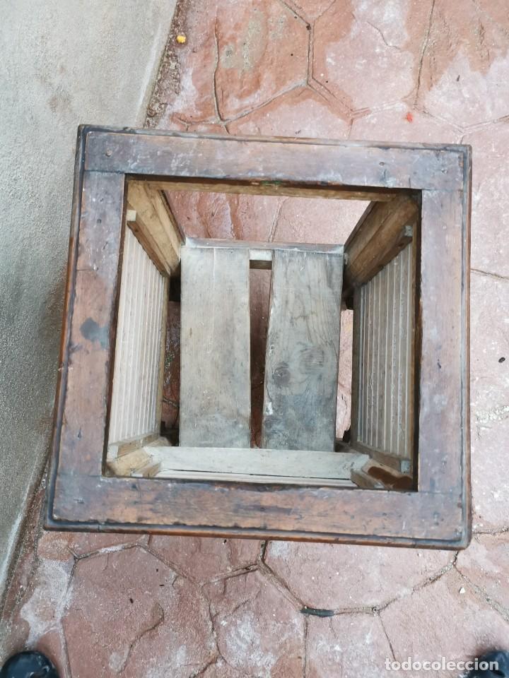 Antigüedades: Mueble macetero de madera y azulejos viuda de J. Mensaque.Sevilla.( 1916-1922) - Foto 5 - 259018620